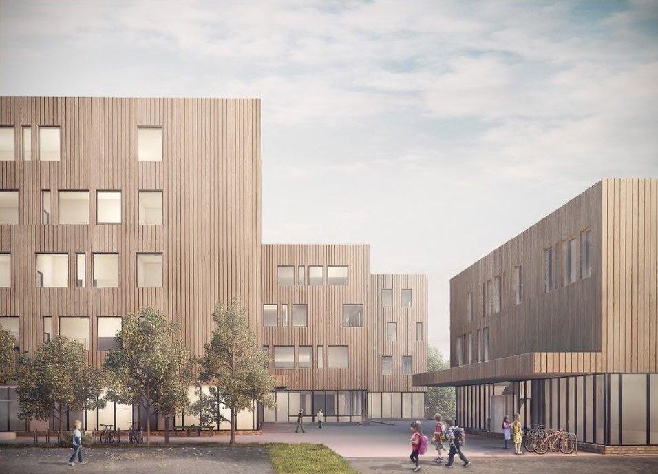 Bygger passivhusskole på Vestli i Oslo