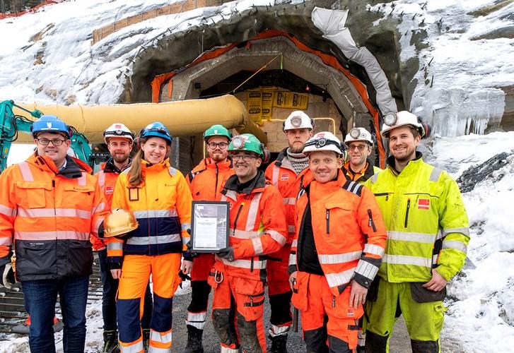 Statsbyggs sikkerhets-Oscar til fjellanlegg i Mo i Rana