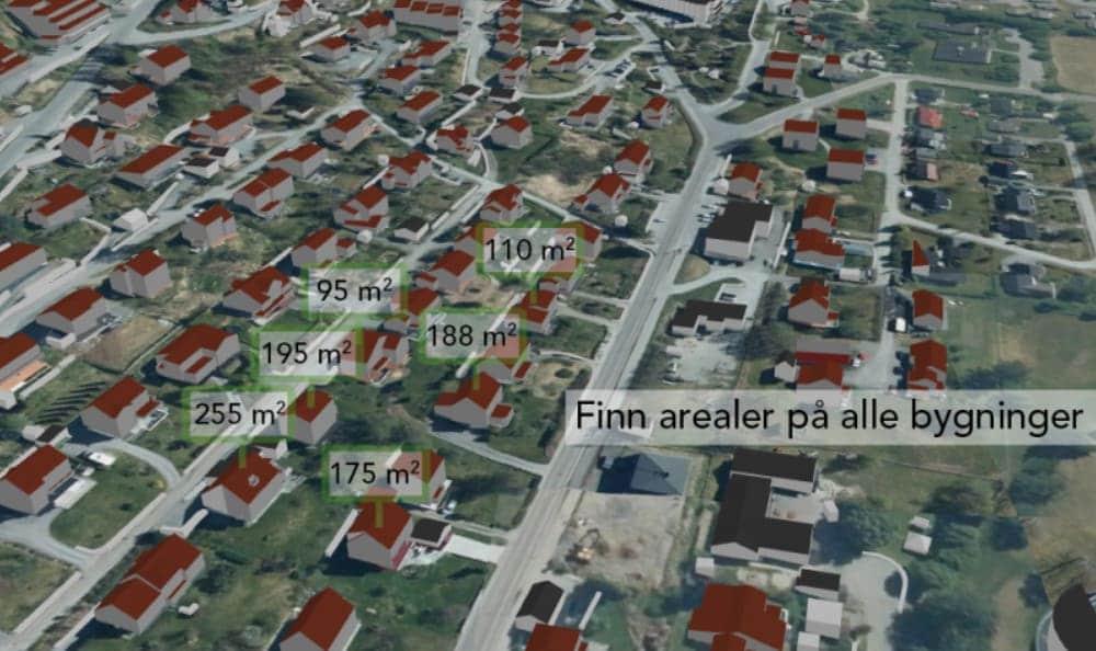 Nå kan du få arealinformasjon over alle bygg i Norge