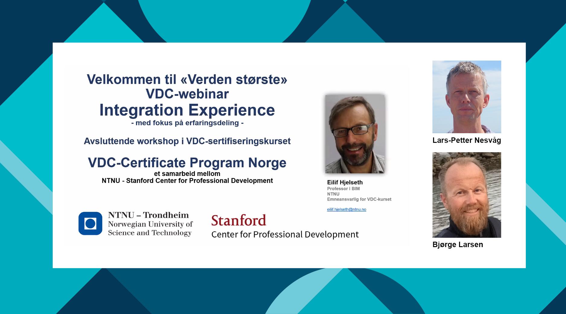 Ni nye medarbeidere fra Norconsult VDC-sertifisert